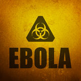 Ebola biohazard Royalty Free Stock Image