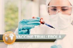 Ebola-Blitznachrichten mit medizinischen Bildern Lizenzfreies Stockfoto