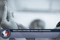 Ebola-Blitznachrichten mit medizinischen Bildern Lizenzfreie Stockfotos