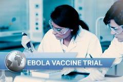 Ebola-Blitznachrichten mit medizinischen Bildern Stockbilder