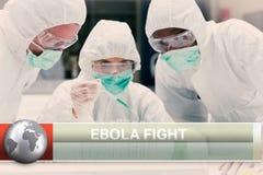 Ebola-Blitznachrichten mit medizinischen Bildern Stockfotografie