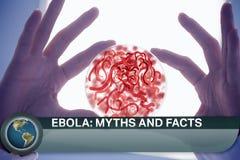Ebola-Blitznachrichten mit medizinischen Bildern Lizenzfreie Stockfotografie