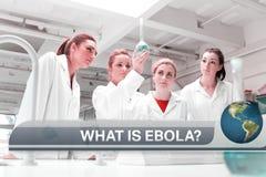 Ebola-Blitznachrichten mit medizinischen Bildern Stockfoto