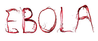 Ebola bloody text Stock Photo