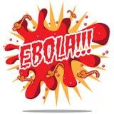 Ebola burst and viruses cartoon Stock Images