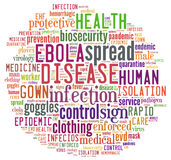 Ebola Cloud stock photo