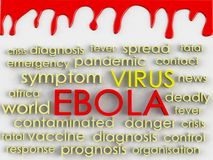 Ebola concept word cloud background Royalty Free Stock Photos