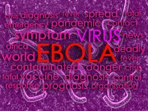 Ebola concept word cloud background Stock Photo