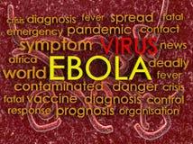 Ebola concept word cloud background Stock Photos
