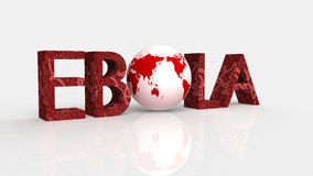 Ebola concept word cloud background Stock Photography