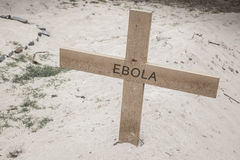 Ebola cross II Royalty Free Stock Photo