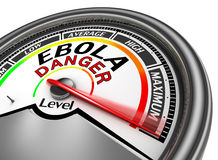 Ebola danger conceptual meter indicate maximum Stock Photo