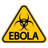 Ebola danger sign Stock Image