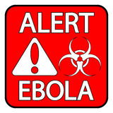 Ebola danger sign Royalty Free Stock Image
