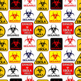 Ebola danger signs seamless pattern Stock Photo
