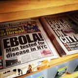 Ebola em NYC imagens de stock