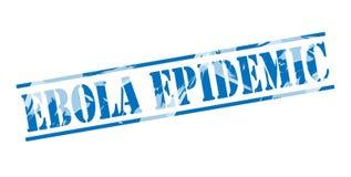 Ebola epidemic blue stamp Royalty Free Stock Images