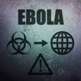 Ebola - global pandemic threat Royalty Free Stock Images