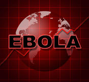 Ebola Graph Indicates Infograph Investment And Viral Royalty Free Stock Images