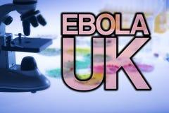 Ebola Großbritannien Stockfotos