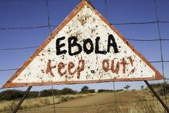 Ebola mantém-se para fora Fotos de Stock Royalty Free