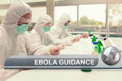Ebola news flash with medical imagery Stock Photo