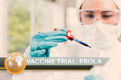 Ebola news flash with medical imagery Royalty Free Stock Photo