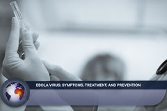 Ebola news flash with medical imagery Royalty Free Stock Photos