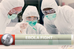 Ebola news flash with medical imagery Stock Photography