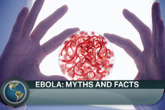 Ebola news flash with medical imagery Royalty Free Stock Photography