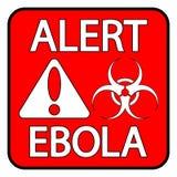 Ebola niebezpieczeństwa znak Obraz Royalty Free
