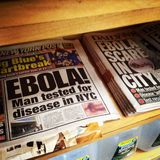 Ebola in NYC stock images