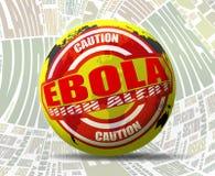 Ebola ostrzeżenie Zdjęcie Stock