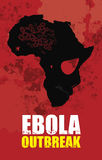 Ebola outbreak and Africa map. Map looks like a skull Royalty Free Stock Photos