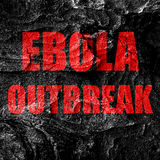 Ebola outbreak concept background Royalty Free Stock Image