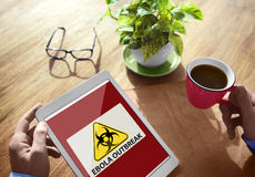 Ebola Outbreak Digital Device Internet Wireless Searching Concep Stock Image