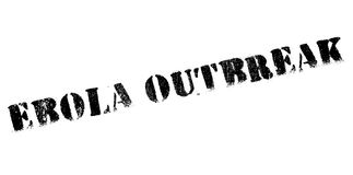 Ebola Outbreak rubber stamp Stock Photography