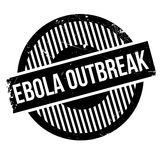 Ebola Outbreak rubber stamp. Grunge design with dust scratches. Effects can be easily removed for a clean, crisp look. Color is easily changed Stock Image