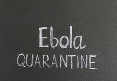 Ebola quarantine Stock Photography