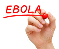 Ebola Red Marker Stock Image
