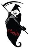 Ebola representó como muerte con la guadaña Imágenes de archivo libres de regalías