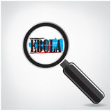 Ebola searching sign or magnifying glass symbol on Royalty Free Stock Images