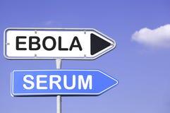 Ebola-Serum Stockfoto