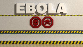 Ebola sign Stock Photography