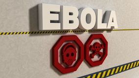Ebola sign Stock Image