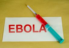 Ebola sign Royalty Free Stock Image