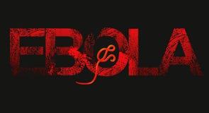 Ebola spreading. Symbolic vector image of Ebola virus spreading royalty free illustration