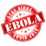Ebola Stop Virus stamp. 