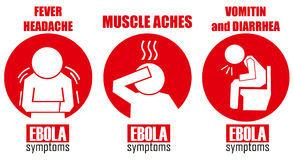 Ebola symptoms Stock Photography