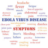 Ebola symptoms Royalty Free Stock Photo